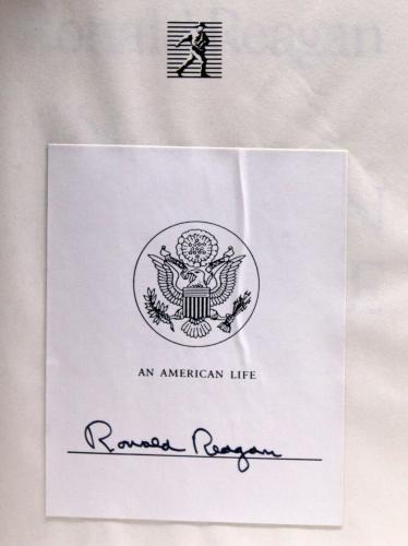President Ronald Reagan Signed Auto Hardcover Book: An American Life PSA/DNA