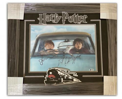 Autograph Daniel Radcliffe Rupert Grint Signed Harry Potter Framed 11x14 Beckett