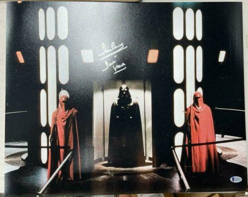 Dave David Prowse Signed Star Wars Darth Vader 16x20 Photo Beckett BAS COA 5