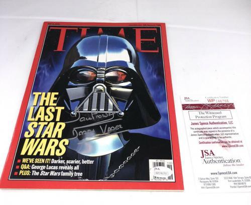 Dave Prowse Signed Darth Vader Star Wars Time Magazine Jsa