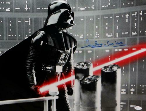 David Prowse Autographed Darth Vader 16x20 Star Wars Silver Photo-JSA Auth *Blue