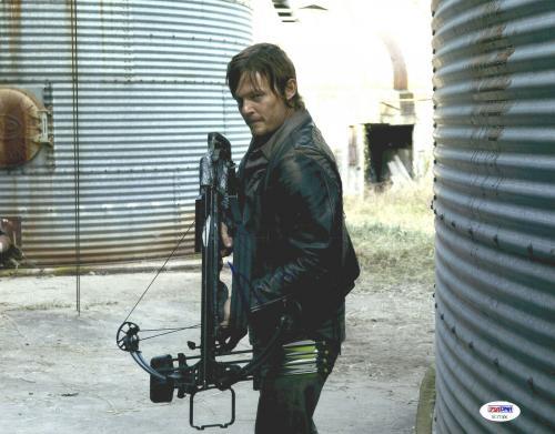 "Norman Reedus Autographed 11"" x 14"" The Walking Dead Photo PSA DNA COA"