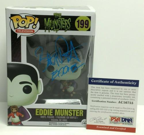 "Butch Patrick Signed 'The Munsters:Eddie Munster' Funko Pop #199 ""Eddie"" PSA 755"