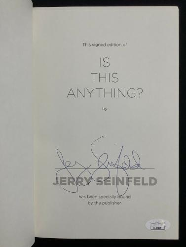 Jerry Seinfeld Signed Book Is This Anything? HCB Comedian Actor Autograph JSA