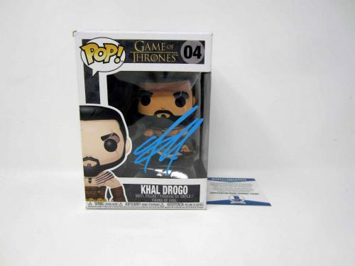 JASON MOMOA Khal Drogo Game Of Thrones SIGNED Autograph Funko Pop Figure PSA COA