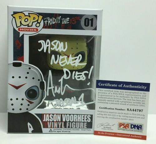 "Ari Lehman Signed Friday The 13th:Jason Voorhees Funko Pop ""Jason Never Dies""PSA"