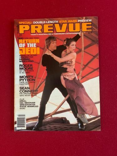 """1983, Star Wars, """"PREVUE""""  Magazine (No Label) Scarce / Vintage"""