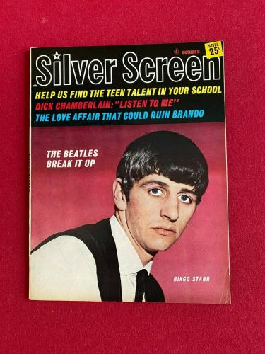 "1964, Ringo Starr, Beatles, ""Silver Screen"" Magazine, (No Label) Scarce /Vintage"