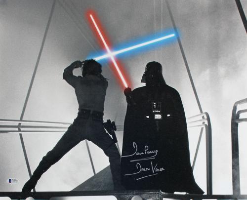 "David Prowse Star Wars ""Darth Vader"" Signed 16x20 Photo BAS #C58703"
