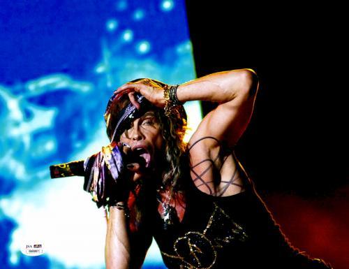 Steven Tyler Signed 11x14 Aerosmith Hat Grab Photo James Spence JSA COA