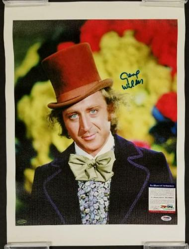 Gene Wilder signed Willy Wonka 16x20 Canvas Photo #1 BLUE AUTO ~ PSA/DNA COA