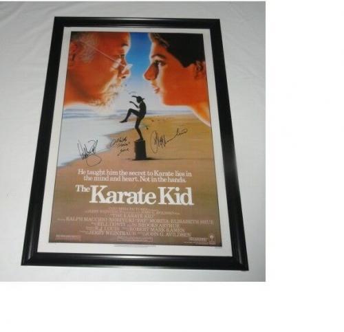 Ralph Macchio William Zabka Kove Signed The Karate Kid 27x40 Poster Jsa Coa