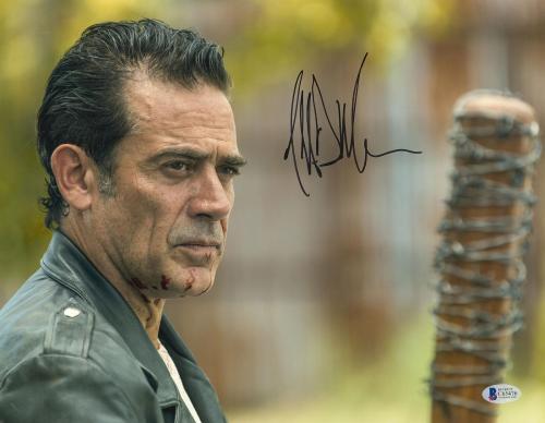 Jeffrey Dean Morgan Signed 11x14 Walking Dead Photo Lucille Beckett BAS COA
