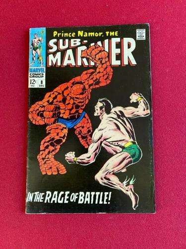 1968, SUB-MARINER, (# 8) Comic Book (Scarce /Vintage) Stan Lee (The Thing)