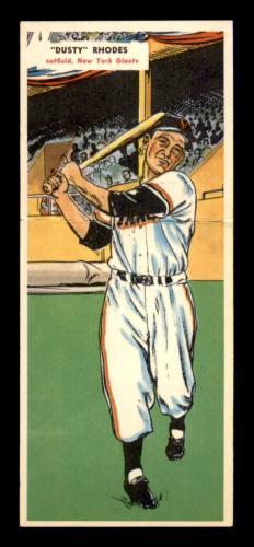 #27 Dusty Rhodes/Jim Davis - 1955 Topps Double Headers Baseball Cards (Star) Graded EXMT+