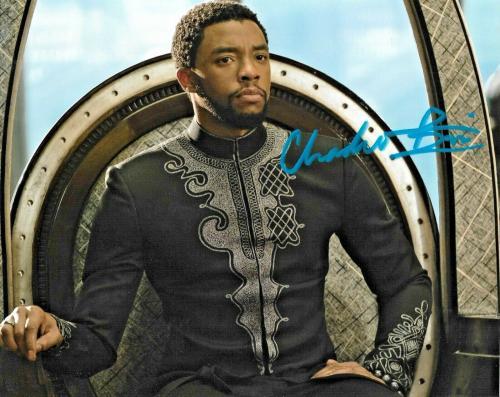 Chadwick Boseman Black Panther Avengers Marvel Signed Auto 8x10 Photo DG COA (B)