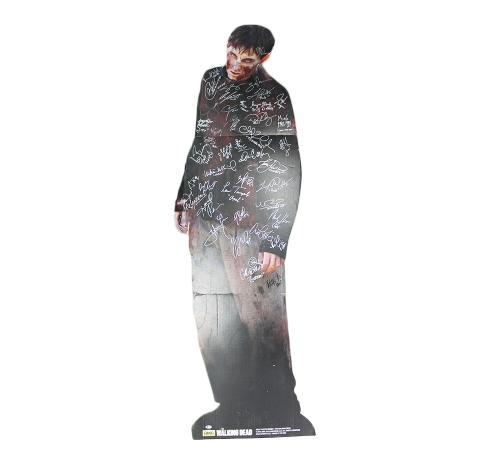 Multi Signed The Walking Dead Walker Cardboard Stand Up Trifold Prop