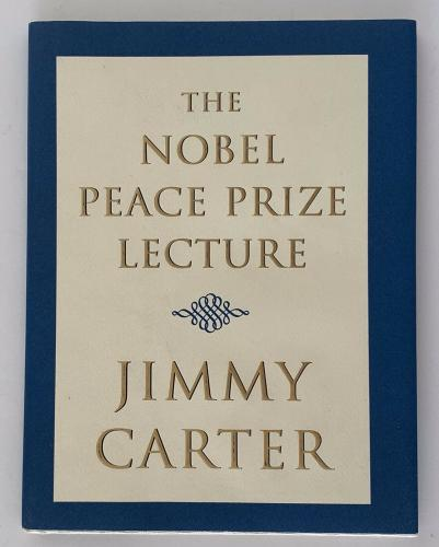 Jimmy Carter signed book the nobel peace prize lecture president beckett coa