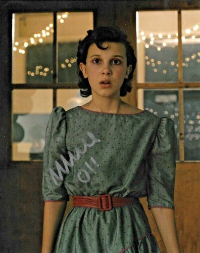 Millie Bobby Brown Eleven Stranger Things Netflix Signed 8x10 Photo W/ DG COA A)