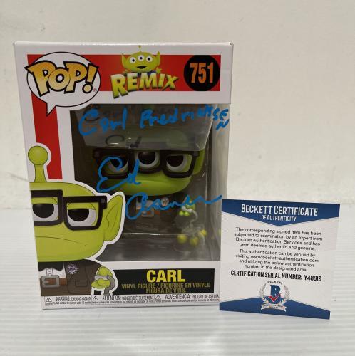 Ed Asner Signed Autographed Carl Alien Up Funko Pop Disney Pixar Beckett COA 2