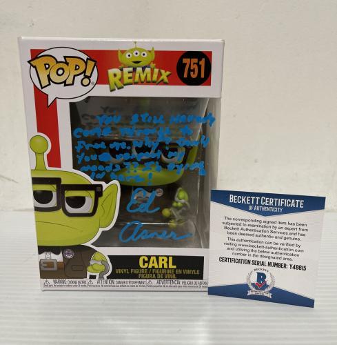 Ed Asner Signed Autographed Carl Alien Up Funko Pop Disney Pixar Beckett COA 1