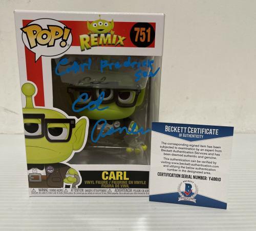 Ed Asner Signed Autographed Carl Alien Up Funko Pop Disney Pixar Beckett COA 5