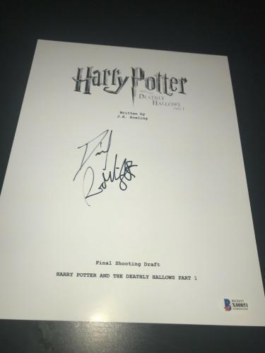 Daniel Radcliffe Signed Autograph Script Harry Potter Deathly Hallows Beckett E