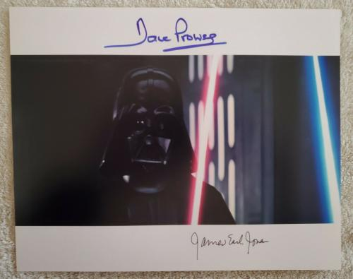 Star Wars Dave Prowse James Earl Jones Signed 8x10 Photo Rare!