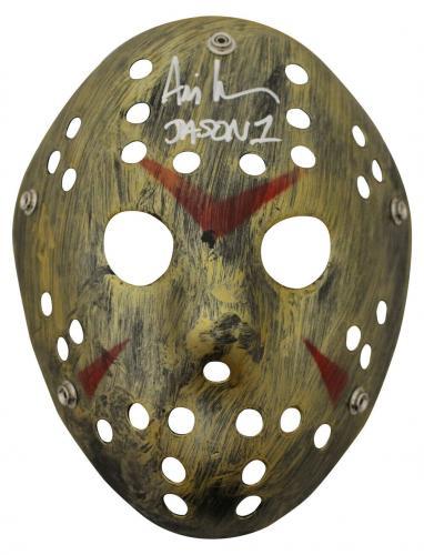 Ari Lehman Autographed/Signed Friday The 13th Gold Mask Jason JSA 26210