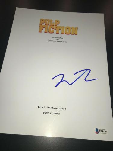 Quentin Tarantino Signed Autograph Pulp Fiction Movie Script Beckett Bas Auto X3