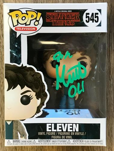 MILLIE BOBBY BROWN (ELEVEN) STRANGER THINGS  signed FUNKO POP figure #545
