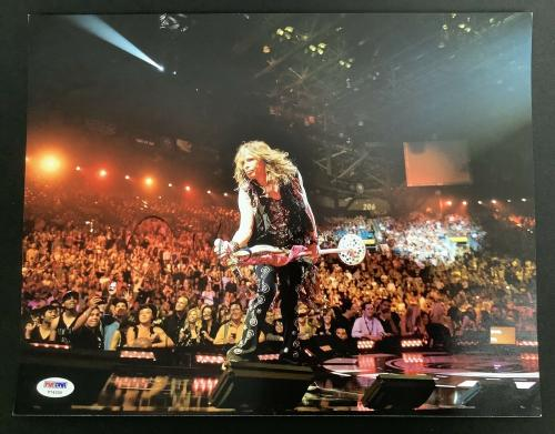 Steven Tyler Signed Photo 11x14 Aerosmith Autograph Front Row In Concert PSA/DNA