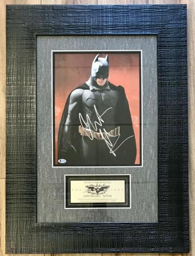 CHRISTIAN BALE (Batman-The Dark Knight) signed 11x14 custom framed display-BAS