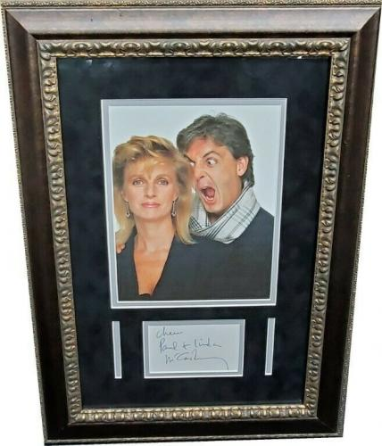 Paul McCartney Signed Autographed Cut / W Photo The Beatles Rare Signature JSA