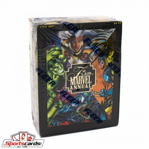 1995 Flair Marvel Annual Trading Card Factory Sealed Box