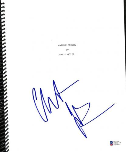 Christian Bale Signed Batman Begins Movie Script BAS D15217