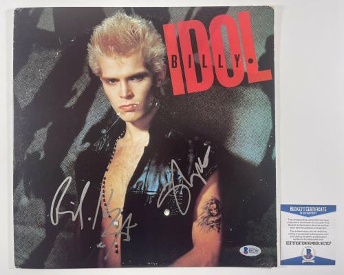 Billy Idol Steve Stevens Dual Signed Album Authentic Beckett Bas Coa #h07207