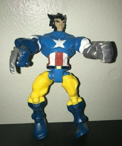 2013 Mattel Marvel Wolverine Captain America Action Figure Rare Collectible L@@k
