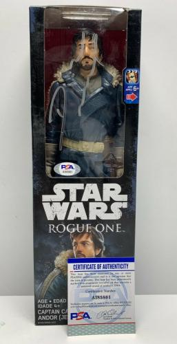 Diego Luna Signed Star Wars Rogue One Action Figure PSA AI85861