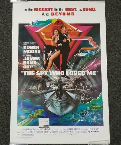 Roger Moore Signed 24x36 Spy Who Loved Me Movie Poster James Bond ~ PSA/DNA (A)