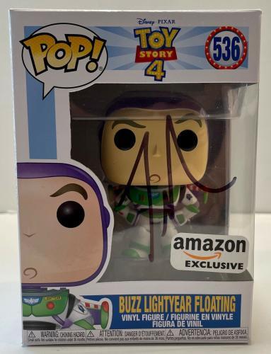 Tim Allen Buzz Lightyear Toy Story Floating #536 Signed Auto Funko Pop DG COA C