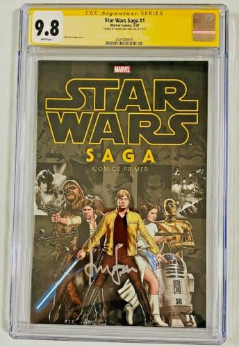 Han Solo Star Wars Saga #1 CGC 9.8 Signed Harrison Ford Signature Series Comic