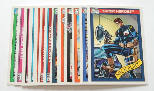 Lot of (13) Different 1990 Impel Marvel Universe Trading Cards Iron Man Thor