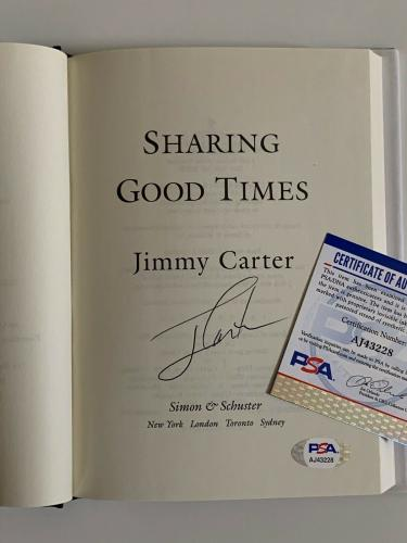 Jimmy Carter President Sharing Good Times Signed Book Certified by PSA DNA *28