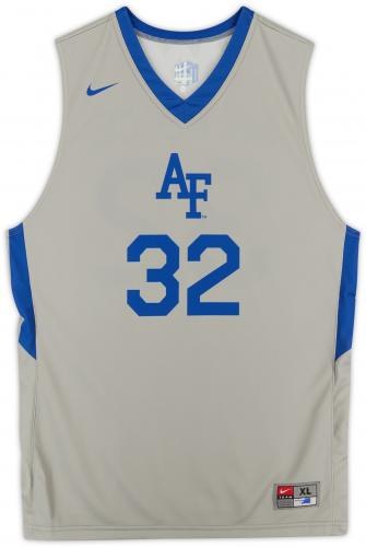 Air Force Falcons Team-Issued #32 Gray Jersey with Blue Collar from the Basketball Program - Size XL
