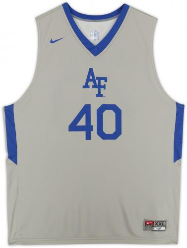 Air Force Falcons Team-Issued #40 Gray Jersey with Blue Collar from the Basketball Program - Size 2XL