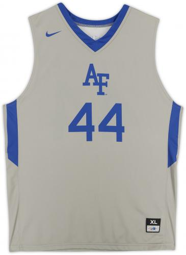 Air Force Falcons Team-Issued #44 Gray Jersey with Blue Collar from the Basketball Program - Size XL