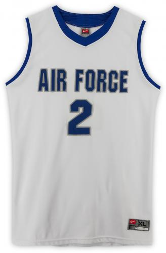 Air Force Falcons Team-Issued #2 White Jersey with Blue Collar from the Basketball Program - Size XL
