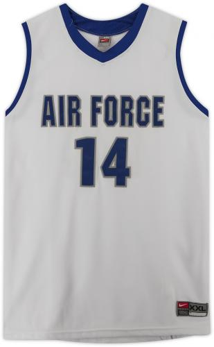 Air Force Falcons Team-Issued #14 White Jersey with Blue Collar from the Basketball Program - Size 2XL