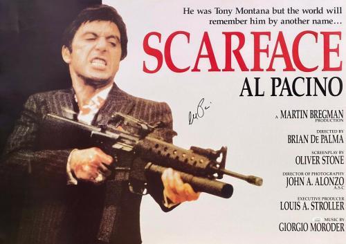Al Pacino Tony Montana Signed Autographed Scarface Movie Poster 24x34 JSA H
